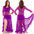 Traje Basico Lua Danza del Vientre 4 colores
