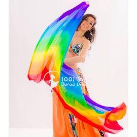 Velo de seda Degradado Arco Iris