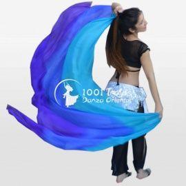 Velo de seda degradado azules